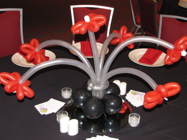 Balloon Flowers: Table Centerpiece
