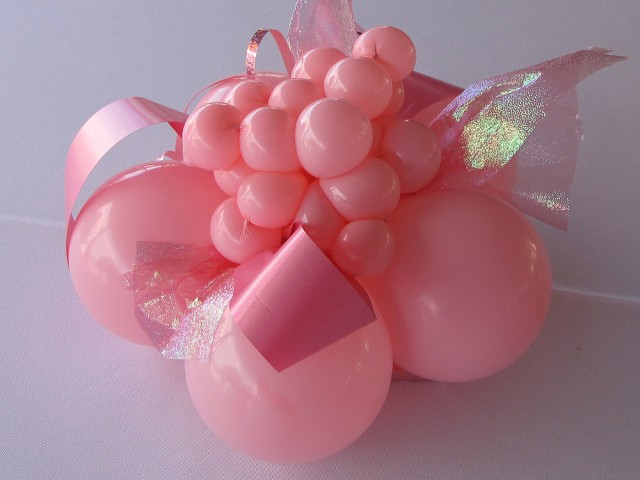 Pink Balloon Cluster with a Twist!: Breast Cancer - Ford Motor Co.
